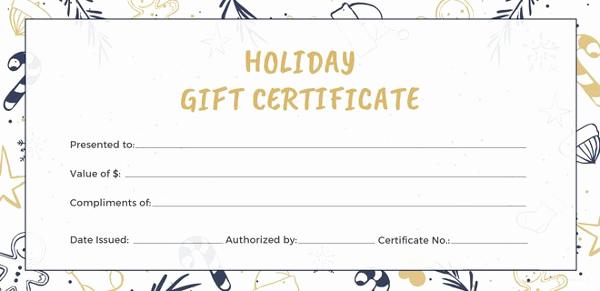 Google Docs Gift Certificate Template Lovely 11 Travel Gift Certificate Templates Free Sample