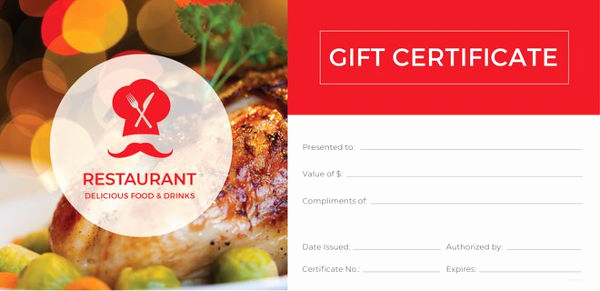 Google Docs Gift Certificate Template Luxury 10 Restaurant Gift Certificate Templates Doc Psd Eps