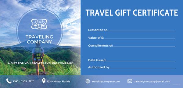 Google Docs Gift Certificate Template Luxury 11 Travel Gift Certificate Templates Free Sample