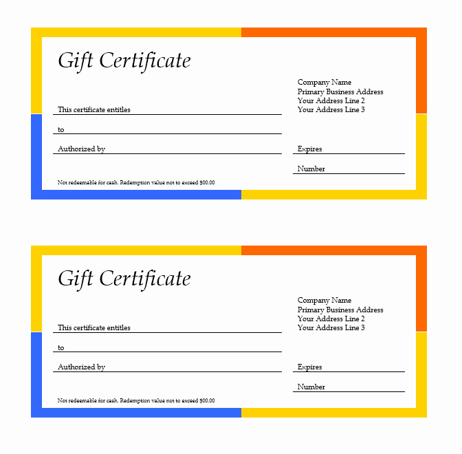 Google Docs Gift Certificate Template Luxury Google Docs Gift Certificate Template