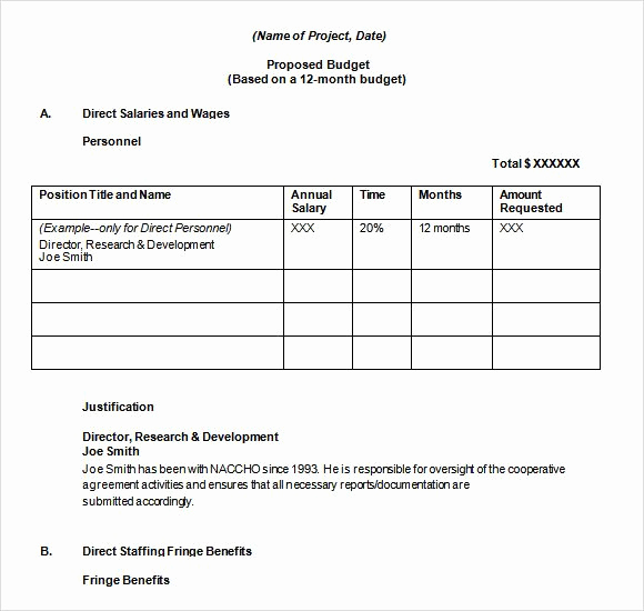 Grant Budget Template Excel Best Of 14 Bud Proposal Templates