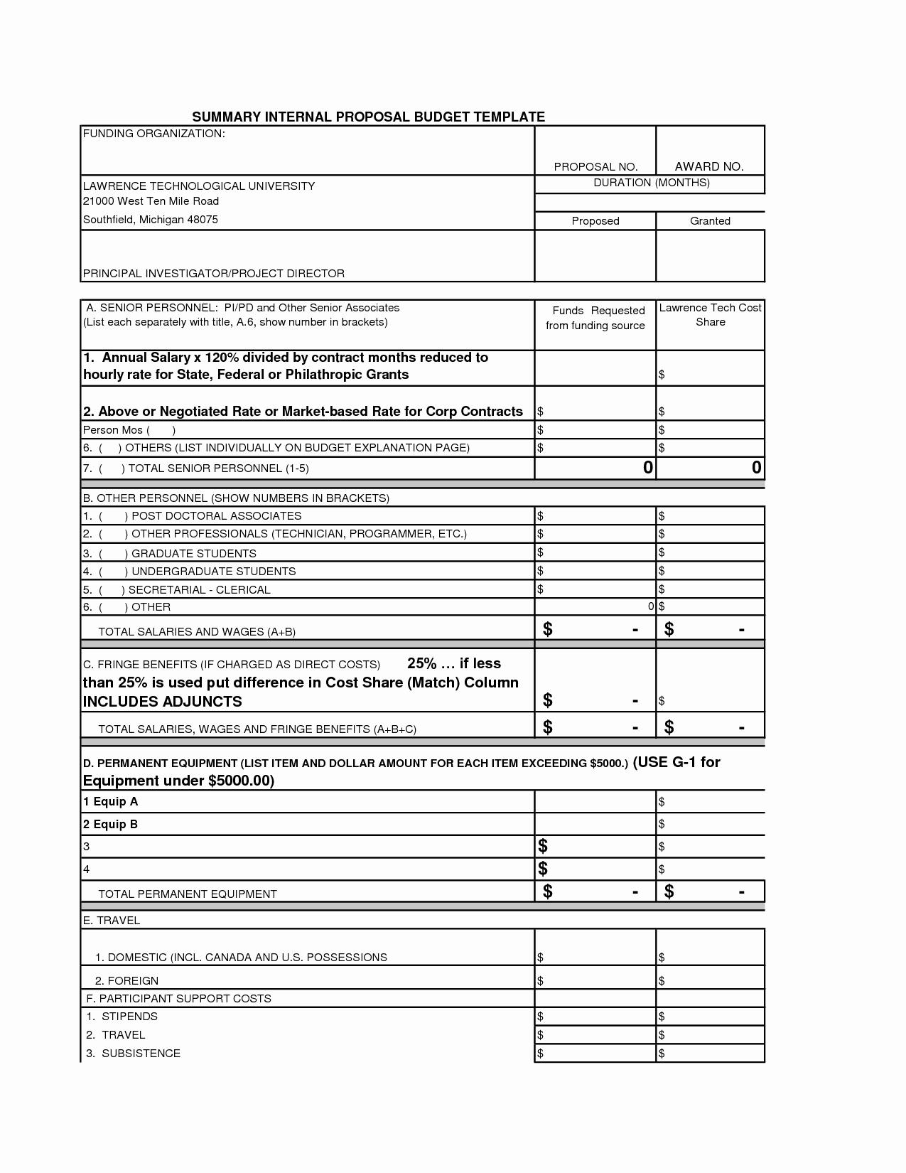 Grant Budget Template Excel Inspirational 25 Of Grant Proposal Bud Template