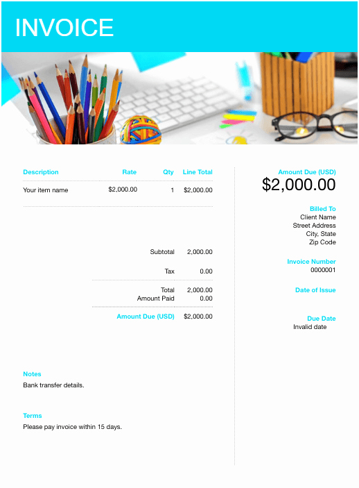 Graphic Design Invoice Template Free Elegant Free Graphic Design Invoice Template Download now