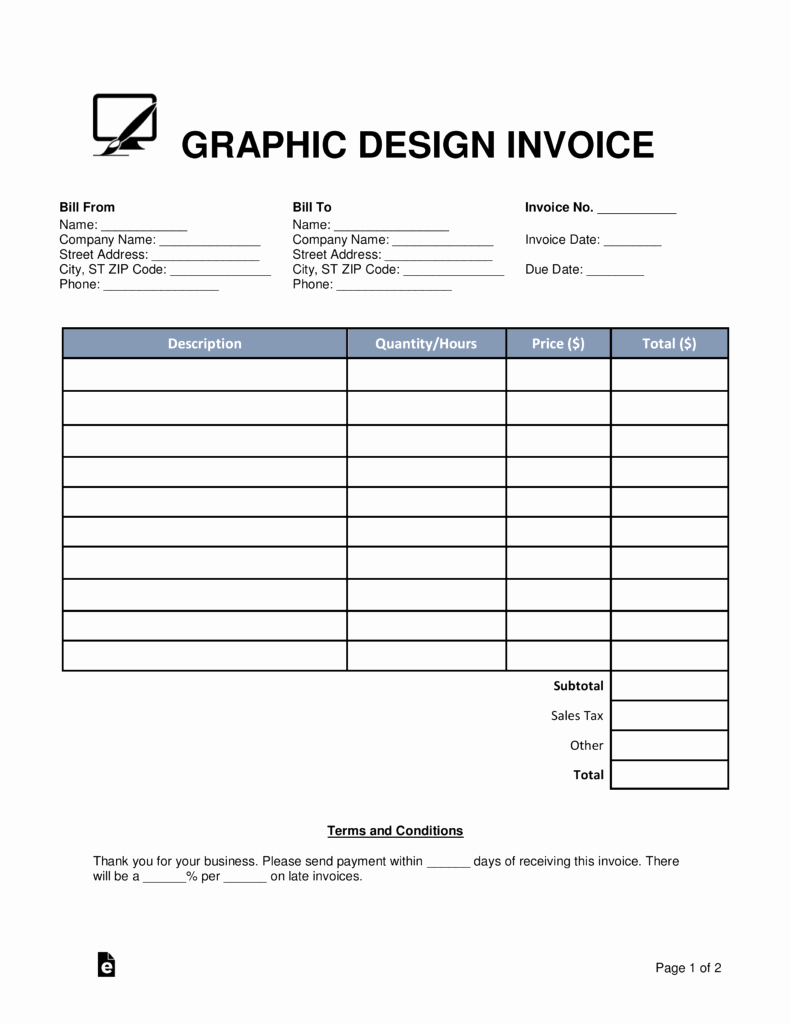 Graphic Design Invoice Template Free Fresh Free Graphic Design Invoice Template Word Pdf