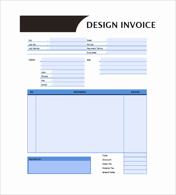 Graphic Design Invoice Template Free Fresh Graphic Design Invoice Template 14 Free Word Excel