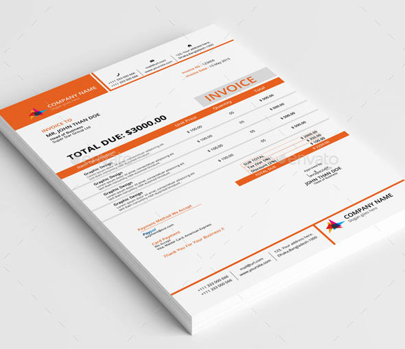 Graphic Design Invoice Template Free Inspirational 37 Best Psd Invoice Templates for Freelancer