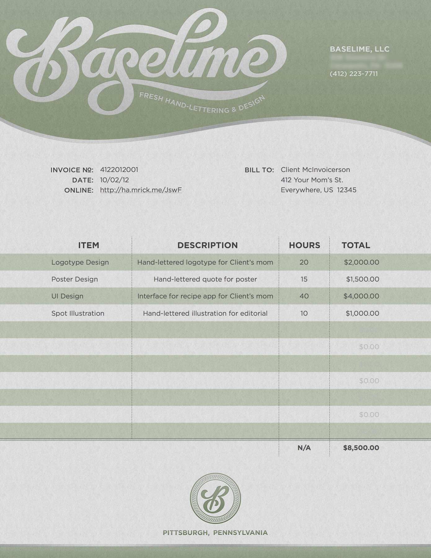 Graphic Design Invoice Template Free Inspirational [download] Freelance Graphic Designer Invoice Template