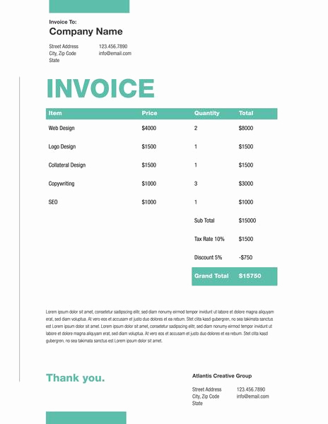 Graphic Design Invoice Template Free Lovely Free Invoice Generator Invoice Maker Line
