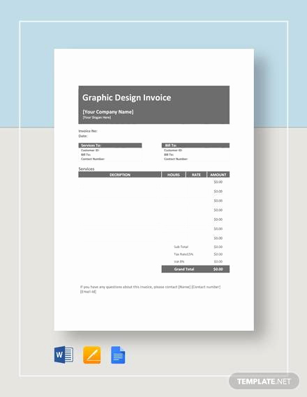 Graphic Design Invoice Template Free Lovely Sample Graphic Descign Invoice 7 Documents In Pdf Word