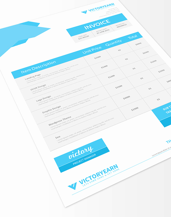 Graphic Design Invoice Template Pdf Best Of Freebies 25 New Useful Free Vector and Psd Files