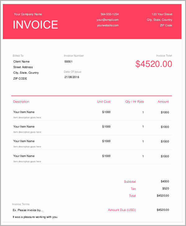 Graphic Design Invoice Template Pdf Elegant 5 Sample Graphic Design Invoices Free Word Pdf format