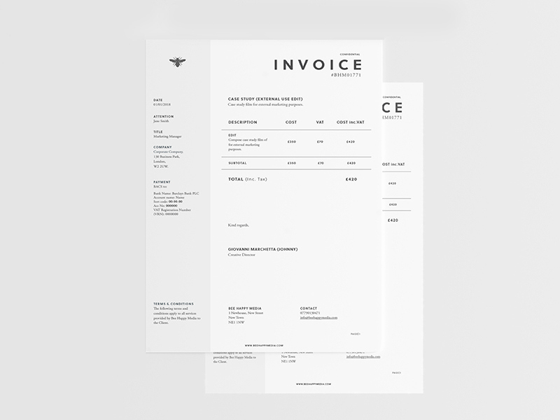 Graphic Design Invoice Template Pdf Inspirational 6 Free Graphic Design Invoice Templates and Examples to