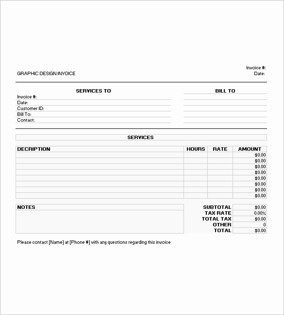 Graphic Design Invoice Template Pdf Lovely Create the Graphic Design Invoice Template Well