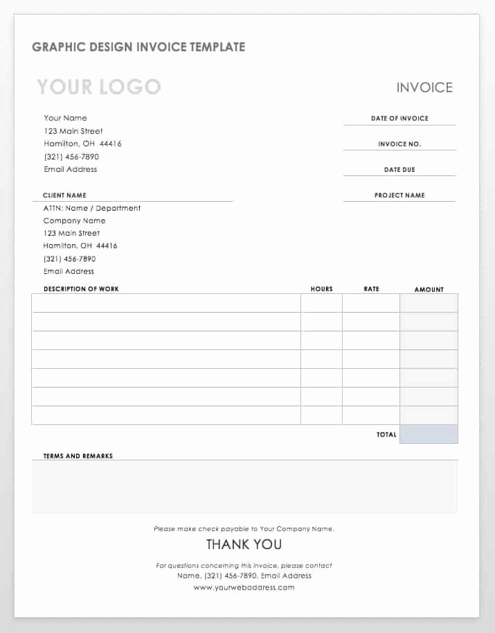Graphic Design Invoice Template Pdf New 55 Free Invoice Templates