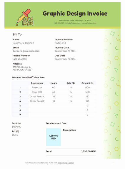 Graphic Design Invoice Template Pdf New Graphic Design Invoice Template Pdf Templates