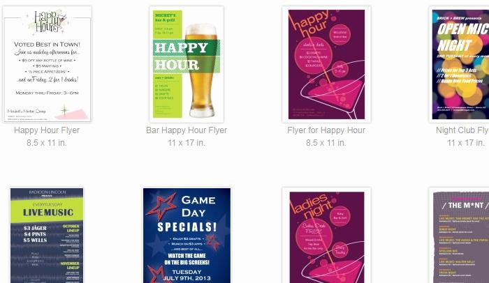 Happy Hour Menu Template Beautiful 6 Happy Hour Flyer Templates