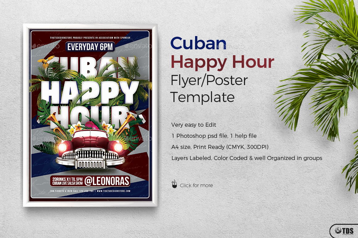 Happy Hour Menu Template Best Of Cuban Happy Hour Flyer Template by Lou606