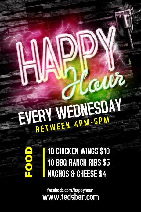 Happy Hour Menu Template Inspirational Customize 9 510 Bar Templates