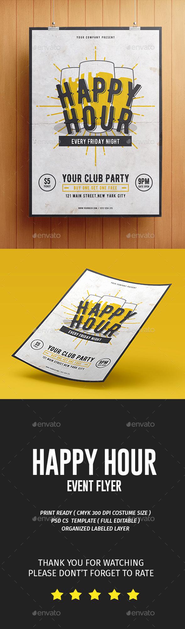 Happy Hour Menu Template Inspirational Happy Hour Flyer by tokosatsu