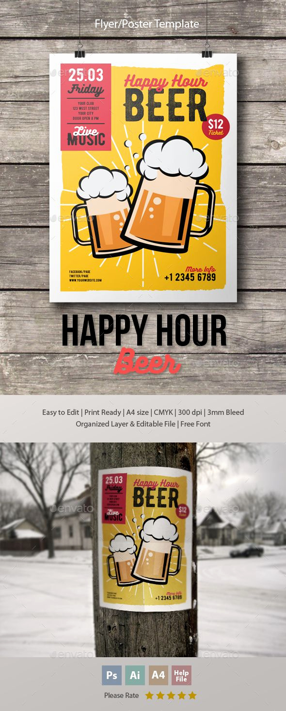 Happy Hour Menu Template Inspirational Pin by Best Graphic Design On Flyer Templates