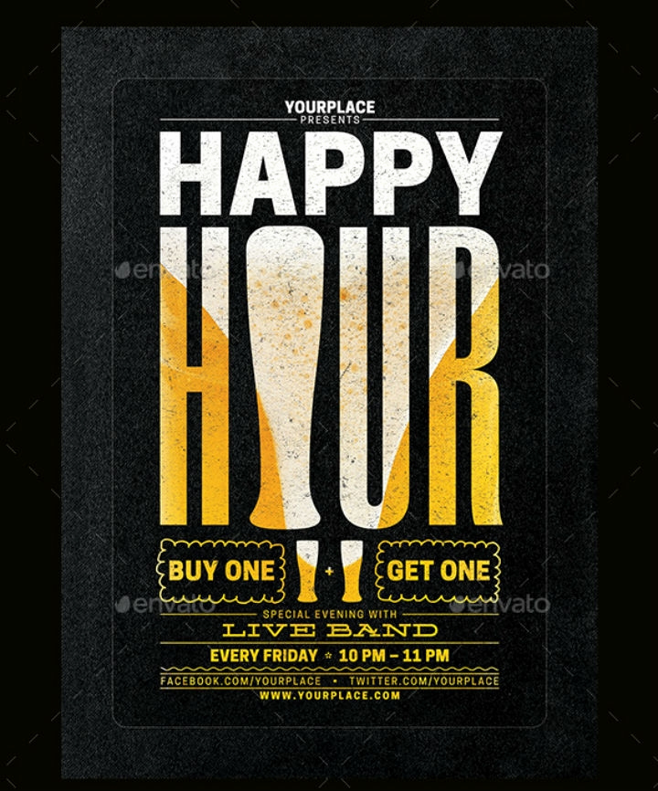 Happy Hour Menu Template Lovely 14 Happy Hour Menu Designs & Templates Psd Ai