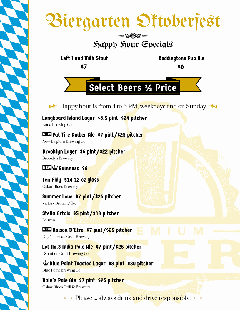 Happy Hour Menu Template Lovely Restaurant Menu Flyers From Imenupro More Than Just