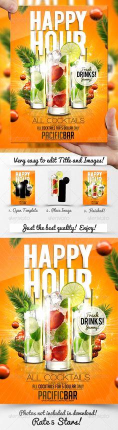 Happy Hour Menu Template Luxury Fruit Juice Menu Flyer Template Design Speisekarte