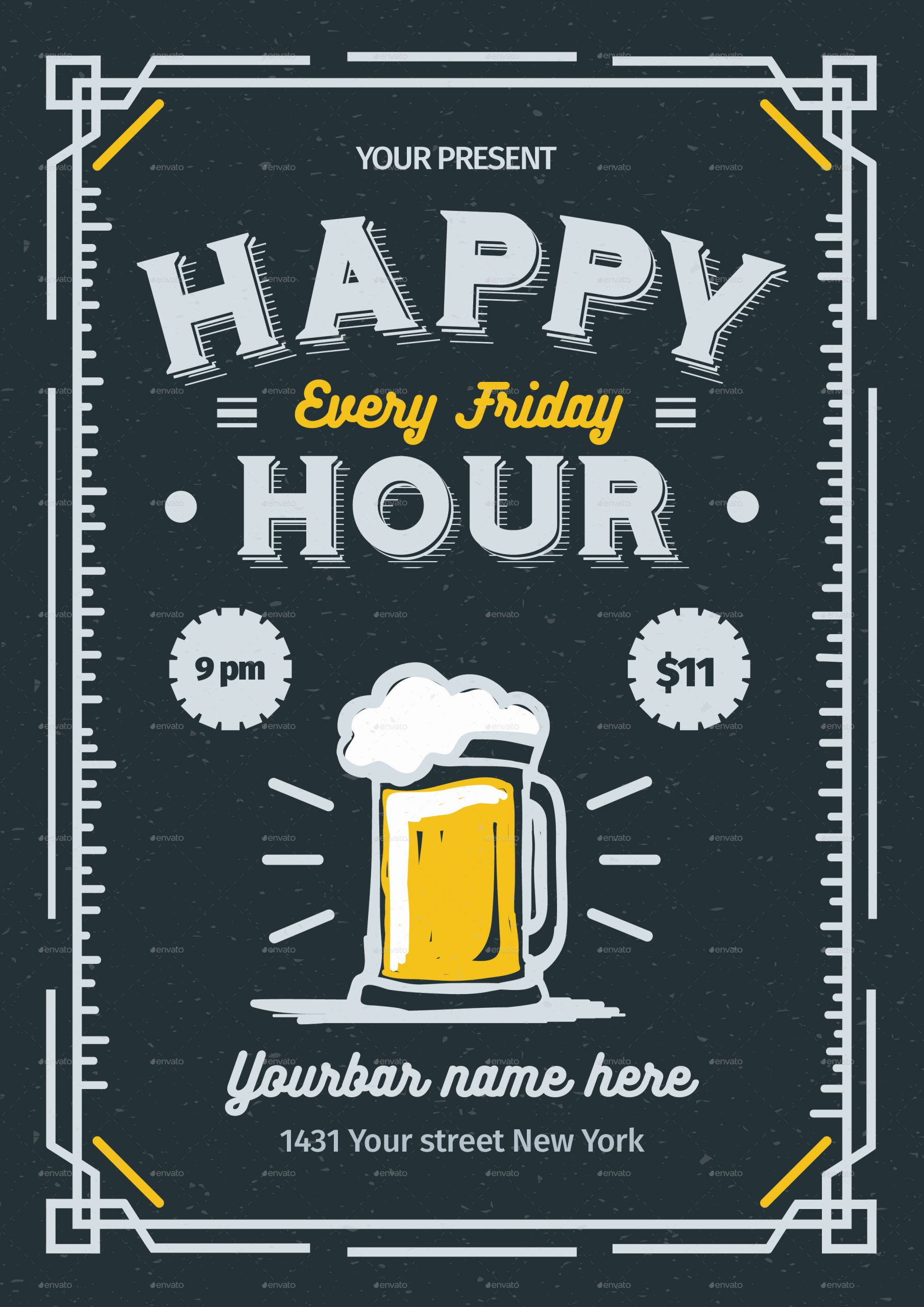 Happy Hour Menu Template New Happy Hour Flyer by Lilynthesweetpea