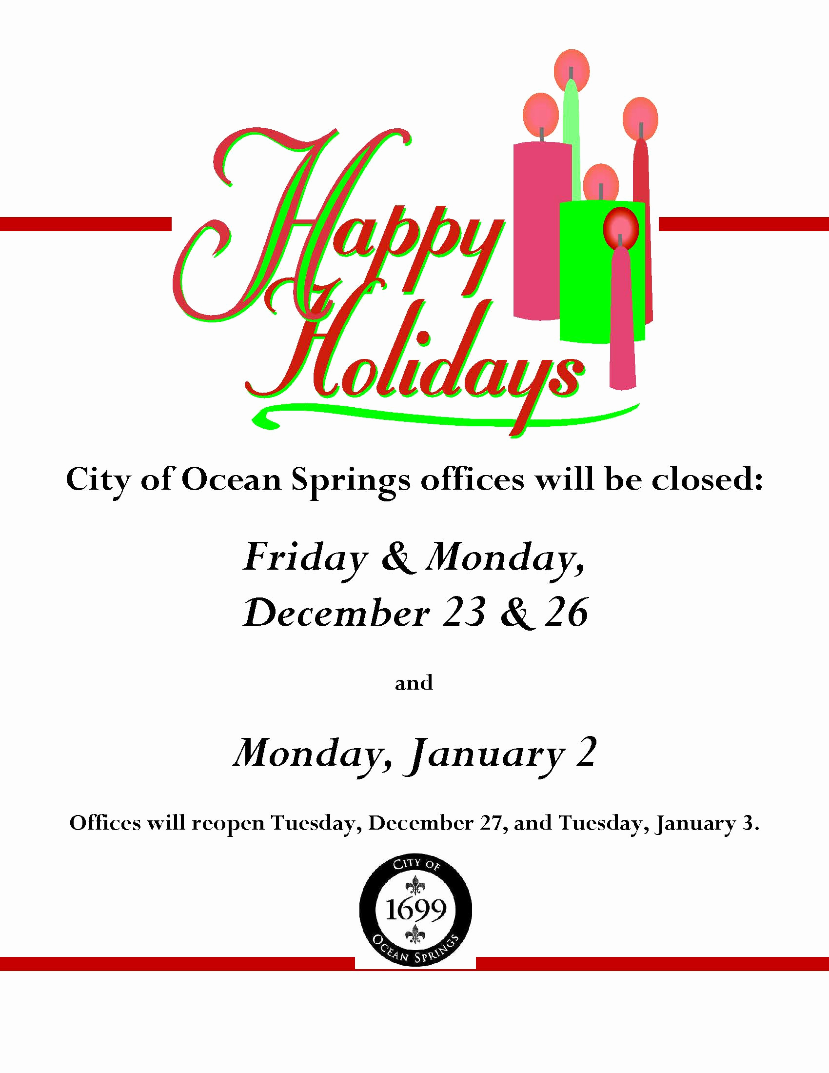 Holiday Closing Notice Template Beautiful Notice Fice Closure Dates for Holidays