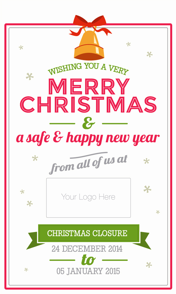 Holiday Closing Notice Template Inspirational Do Your Customers Know Your Opening Hours Over Christmas