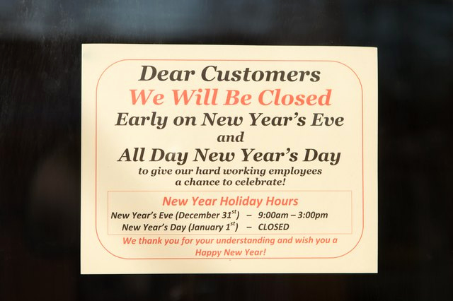 Holiday Closing Notice Template Luxury How to Post A Sign for the Observance Of A Holiday