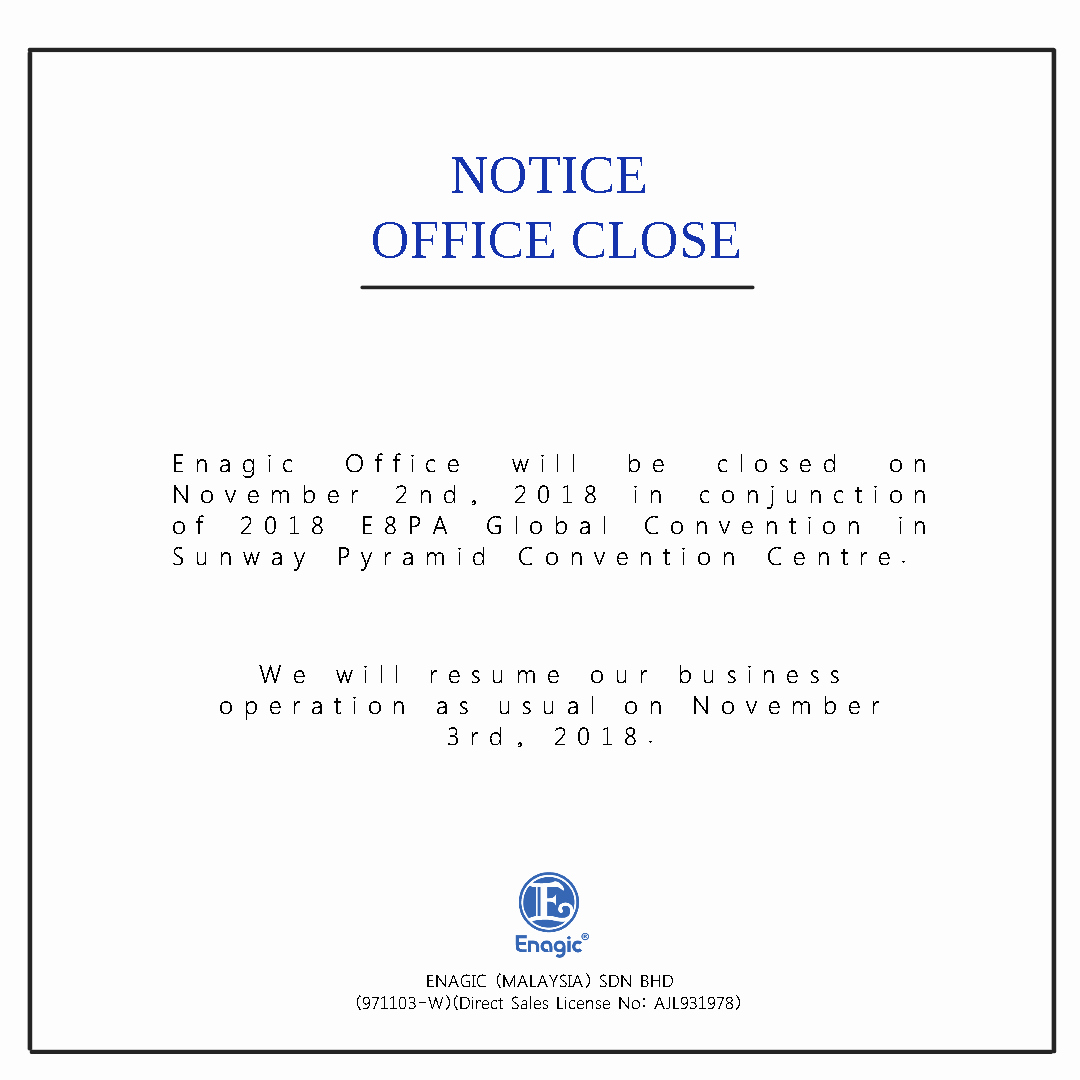 Holiday Closing Notice Template New Public Holidays & Closed Notice Archives Enagic Malaysia
