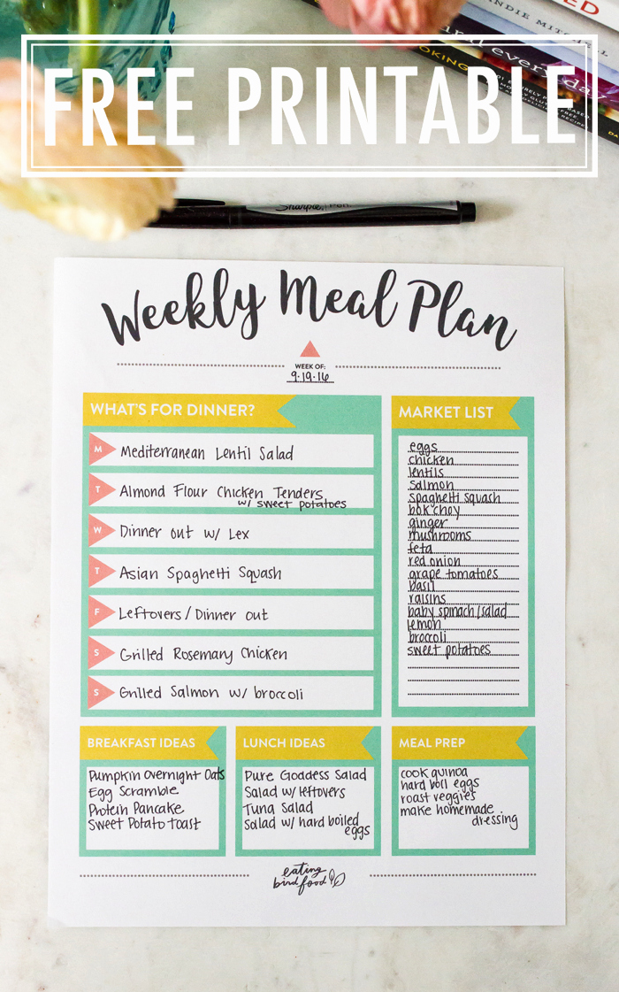 Home Dinner Menu Template Elegant Meal Planning Tips Free Meal Planning Printable