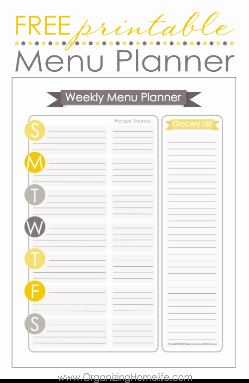 Home Dinner Menu Template Fresh 5 Simple Ways to Keep On top Of Meal Planning