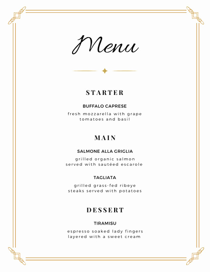 Home Dinner Menu Template Fresh Customize 1 814 Menu Templates Online Canva