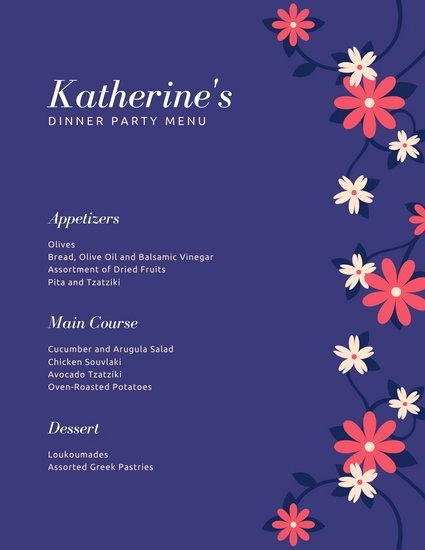 Home Dinner Menu Template Lovely Customize 197 Dinner Party Menu Templates Online Canva