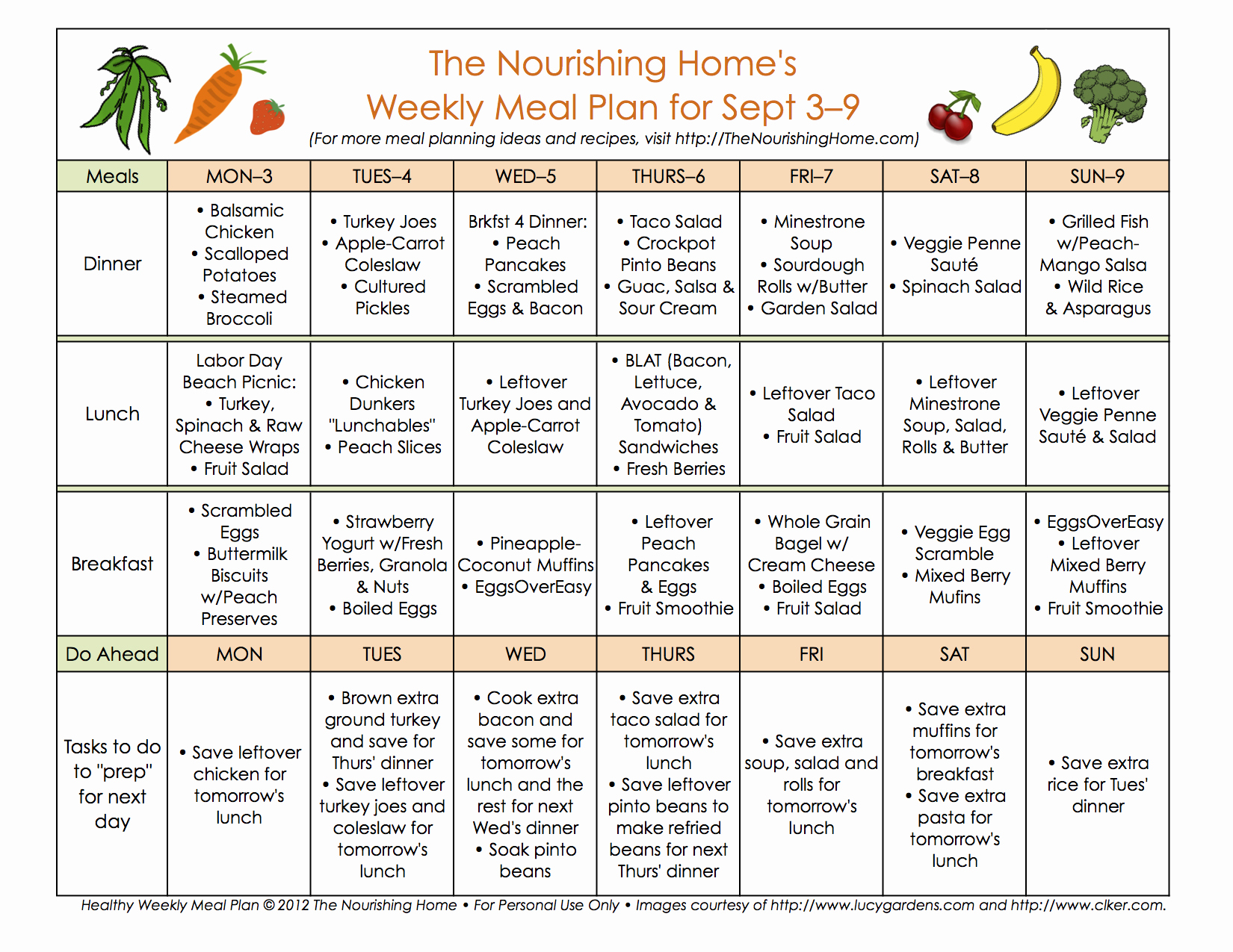 Home Dinner Menu Template Luxury Meal Plan Monday September 3–16 the Nourishing Home