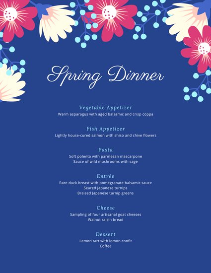Home Dinner Menu Template New Customize 197 Dinner Party Menu Templates Online Canva