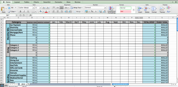 google docs bud template spreadsheet