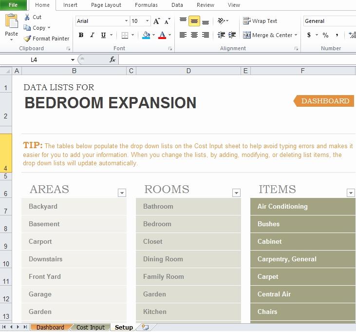 Home Renovation Budget Template Inspirational Free Home Renovation Bud Template Excel Tmp