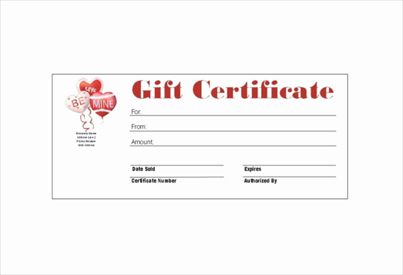 Homemade Gift Certificate Template Awesome 6 Homemade Gift Certificate Templates Doc Pdf