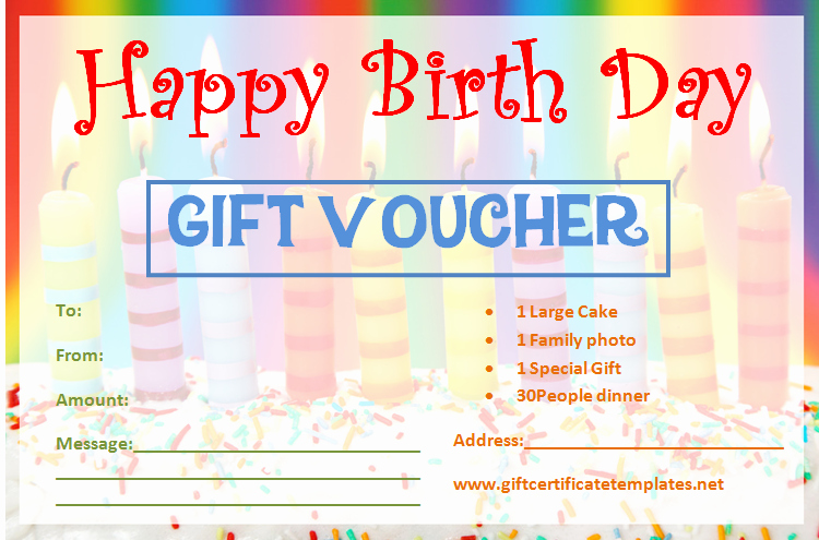 Homemade Gift Certificate Template Awesome Birthday Gift Certificate Templates by
