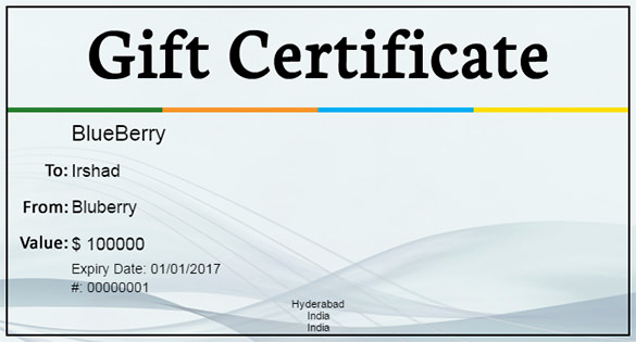 Homemade Gift Certificate Template Best Of 16 Free Gift Certificate Templates & Examples Word