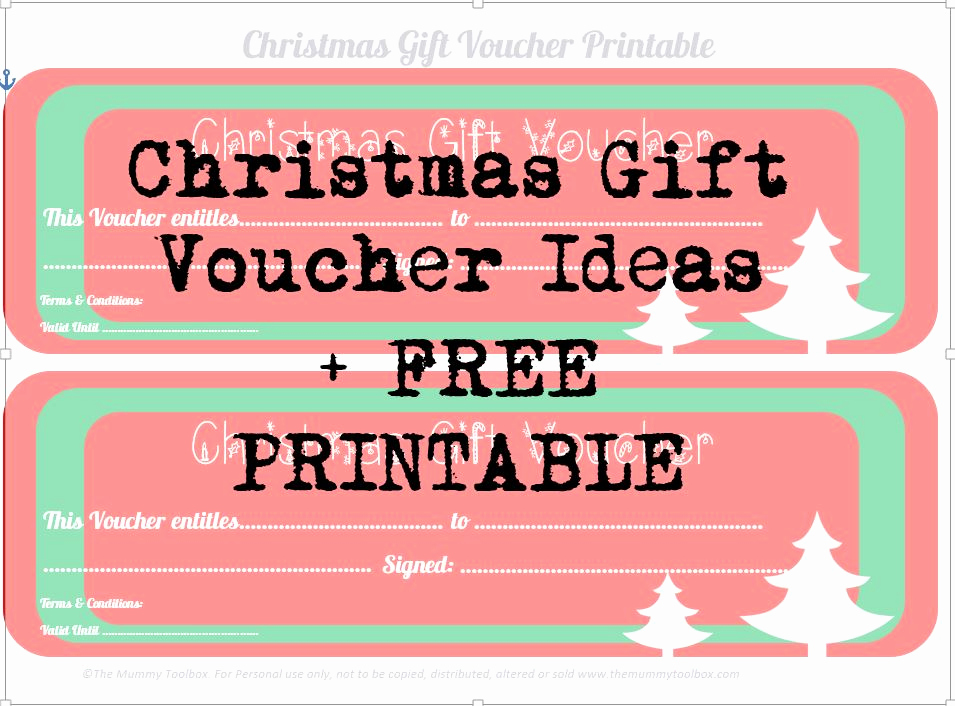 Homemade Gift Certificate Template Best Of Free Printable Christmas Gift Vouchers the Mummy toolbox