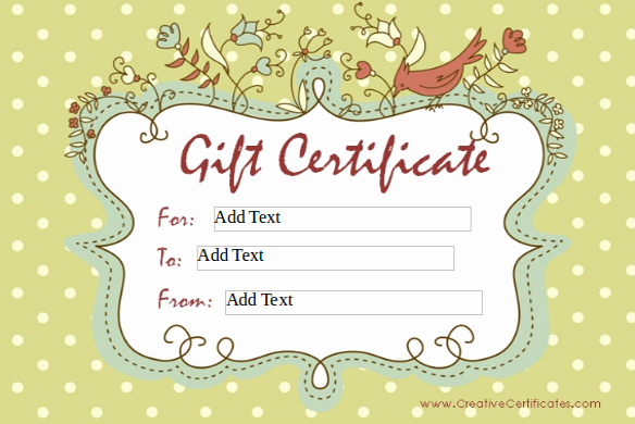 Homemade Gift Certificate Template Inspirational 6 Homemade Gift Certificate Templates Doc Pdf