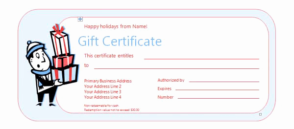 Homemade Gift Certificate Template Inspirational Free Gift Certificate Templates Microsoft Word Templates