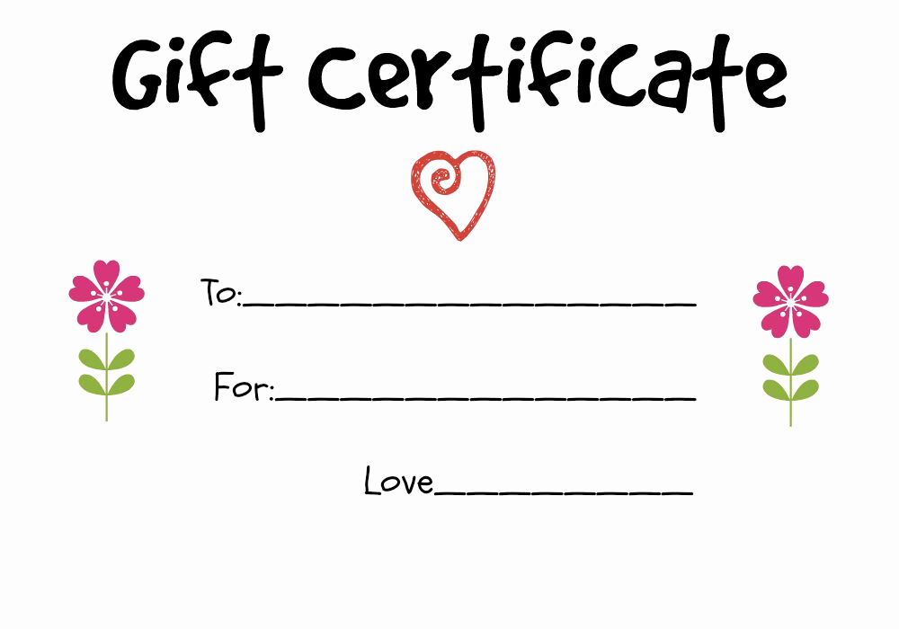 Homemade Gift Certificate Template Inspirational Homemade Gift Certificate Ideas to Give to A Grandparent