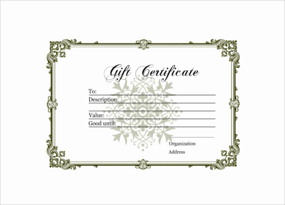 Homemade Gift Certificate Template Luxury 6 Homemade Gift Certificate Templates Doc Pdf