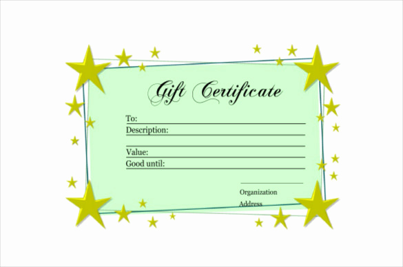 Homemade Gift Certificate Template Unique 6 Homemade Gift Certificate Templates Doc Pdf