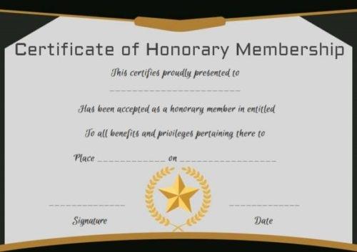 Honorary Member Certificate Template Elegant 14 Honorary Life Certificate Templates Pdf Docx